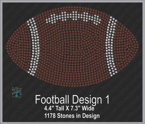 Football Design 1 ,TTF Rhinestone Fonts & Rhinestone Designs