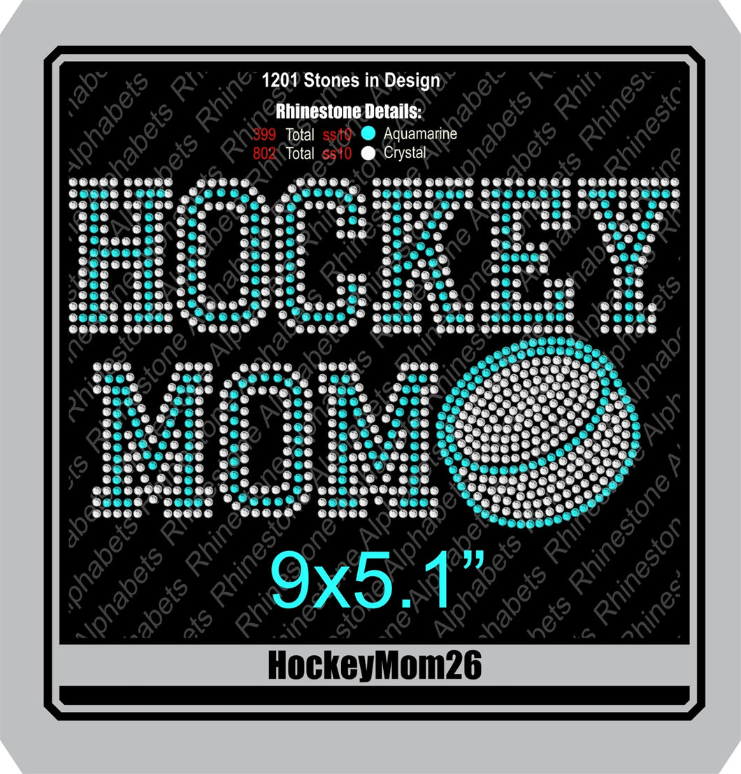 Hockey Mom 26 ,TTF Rhinestone Fonts & Rhinestone Designs