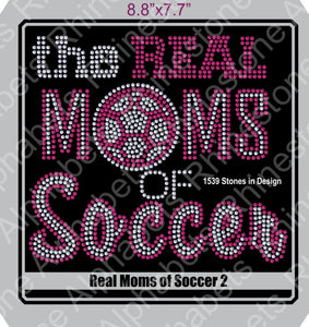 Real Moms of Soccer 2 ,TTF Rhinestone Fonts & Rhinestone Designs