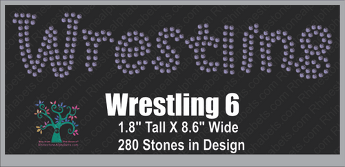 WrestlingWord 6 Rhinestone TTF  Alphabets and Rhinestone Designs