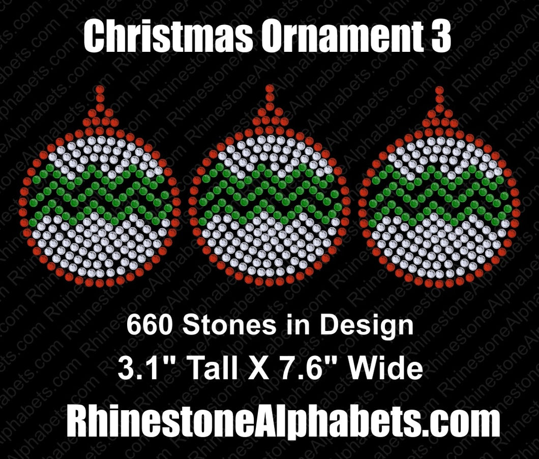 Christmas Ornament 3 ,TTF Rhinestone Fonts & Rhinestone Designs