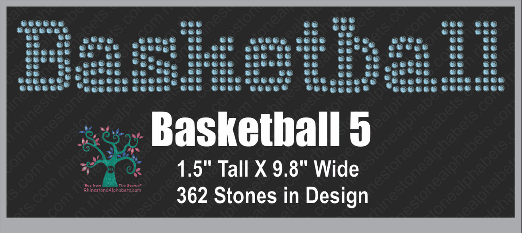 Basketball  Word 5 ,TTF Rhinestone Fonts & Rhinestone Designs