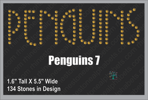 Penguins Word 7 ,TTF Rhinestone Fonts & Rhinestone Designs