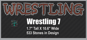 Wrestling Word 7 Rhinestone TTF  Alphabets and Rhinestone Designs
