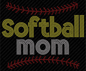 SOFTBALL 6 ,TTF Rhinestone Fonts & Rhinestone Designs