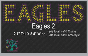 Eagles Word 2 ,TTF Rhinestone Fonts & Rhinestone Designs