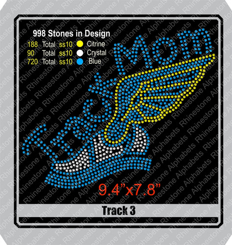 Track 3 Rhinestone TTF  Alphabets and Rhinestone Designs