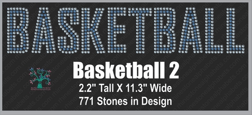 Basketball Word 2 ,TTF Rhinestone Fonts & Rhinestone Designs