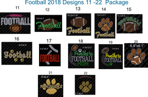 Football Pack Designs 11-22 2018