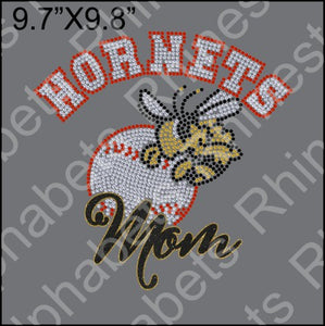 Hornet Baseball 2 - Rhinestone TTF  Alphabets and Rhinestone Designs