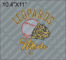 Leopard Baseball 1 - Rhinestone TTF  Alphabets and Rhinestone Designs