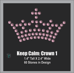 Keep Calm Crown 1 ,TTF Rhinestone Fonts & Rhinestone Designs