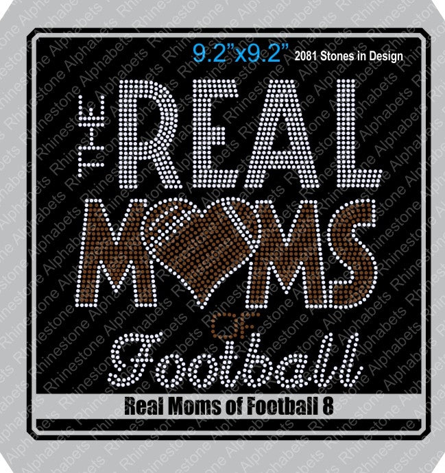 Real Moms of Football 8 ,TTF Rhinestone Fonts & Rhinestone Designs