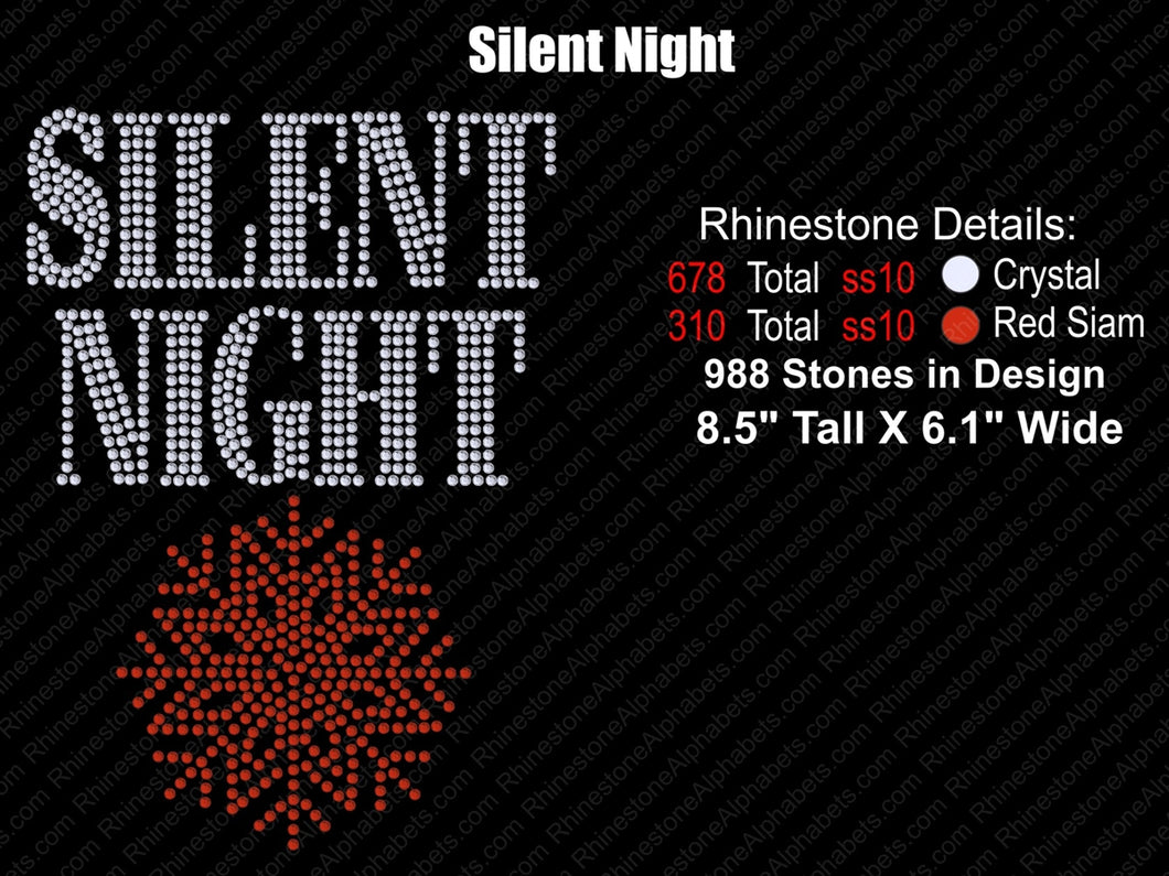 Silent Night ,TTF Rhinestone Fonts & Rhinestone Designs