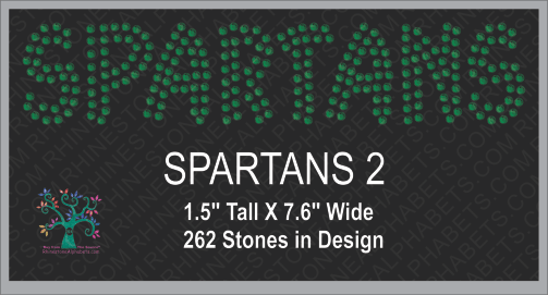 Spartans Word 2 ,TTF Rhinestone Fonts & Rhinestone Designs