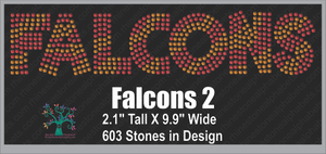 Falcons Word 2 ,TTF Rhinestone Fonts & Rhinestone Designs