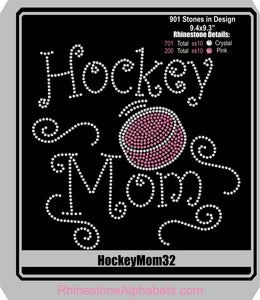 Hockey Mom 32 ,TTF Rhinestone Fonts & Rhinestone Designs