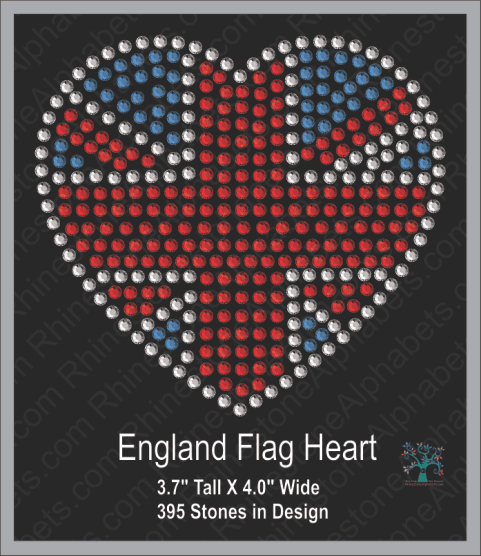 Great Britain: Heart 1 (small) ,TTF Rhinestone Fonts & Rhinestone Designs