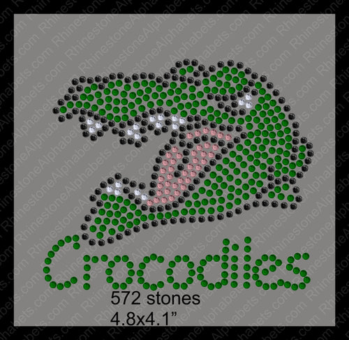 Tiny Crocodile ,TTF Rhinestone Fonts & Rhinestone Designs