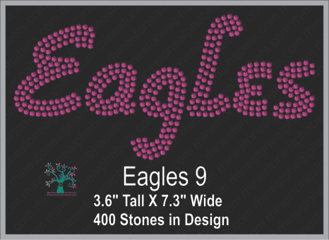 Eagles Words 9 ,TTF Rhinestone Fonts & Rhinestone Designs