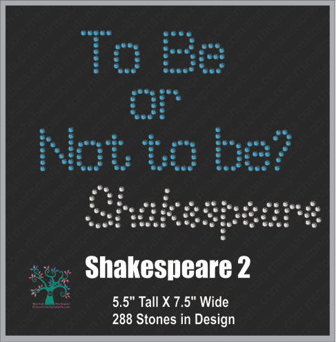 Shakespeare 2 ,TTF Rhinestone Fonts & Rhinestone Designs