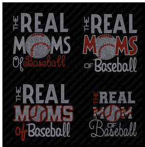 Real Moms of Baseball Combo Pack in DSG! ,TTF Rhinestone Fonts & Rhinestone Designs
