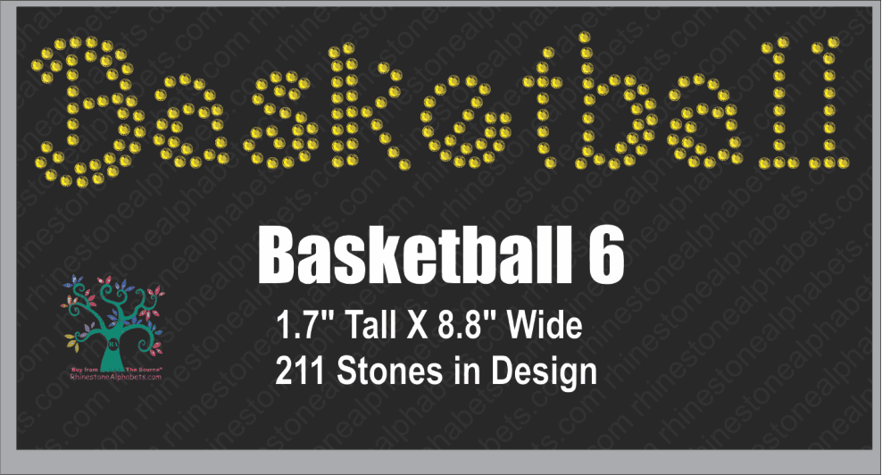 Basketball Word 6 ,TTF Rhinestone Fonts & Rhinestone Designs