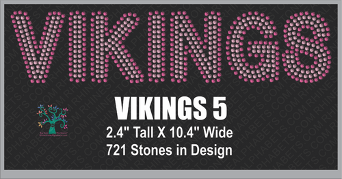 Vikings Word 5 Rhinestone TTF  Alphabets and Rhinestone Designs