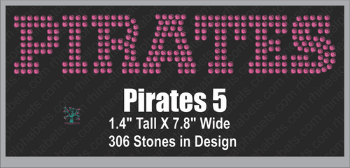 Pirates Word 5 ,TTF Rhinestone Fonts & Rhinestone Designs