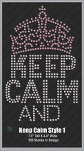 Keep Calm Style 1 ,TTF Rhinestone Fonts & Rhinestone Designs