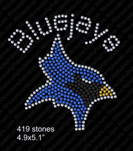 Tiny Bluejay ,TTF Rhinestone Fonts & Rhinestone Designs