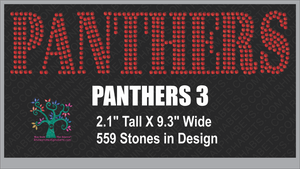 Panthers Word 3 ,TTF Rhinestone Fonts & Rhinestone Designs
