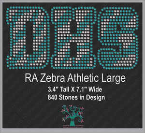 RA Zebra AthleticLarge ,TTF Rhinestone Fonts & Rhinestone Designs