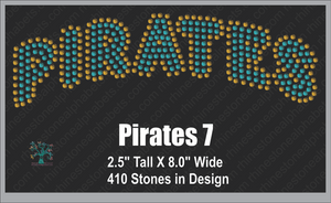 Pirates Word 7 ,TTF Rhinestone Fonts & Rhinestone Designs