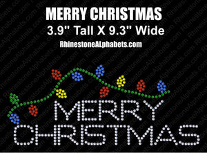 Merry Christmas ,TTF Rhinestone Fonts & Rhinestone Designs