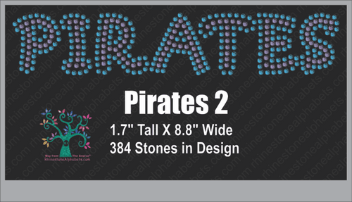 Pirates Word 2 ,TTF Rhinestone Fonts & Rhinestone Designs