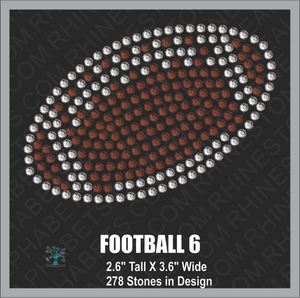 Football Design 6 ,TTF Rhinestone Fonts & Rhinestone Designs
