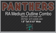 RA Medium Outline Combo ,TTF Rhinestone Fonts & Rhinestone Designs