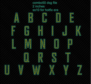 combo 50 dsg file coming soon ,TTF Rhinestone Fonts & Rhinestone Designs