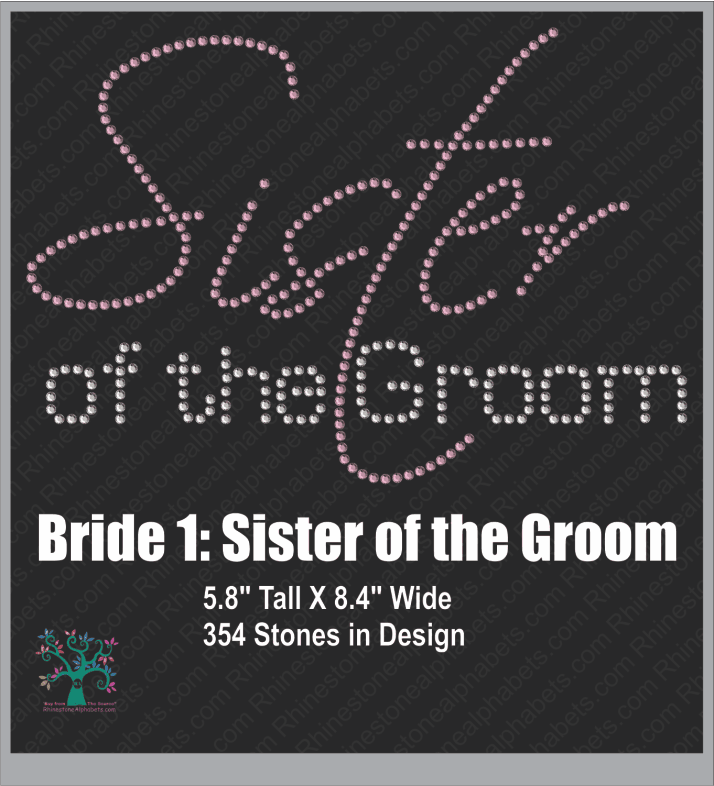 Bride 1: Sister of the Groom ,TTF Rhinestone Fonts & Rhinestone Designs