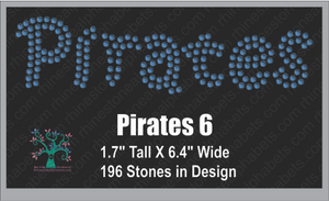 Pirates Word 6 ,TTF Rhinestone Fonts & Rhinestone Designs