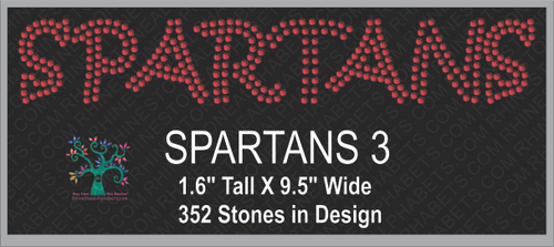 Spartans Word 3 ,TTF Rhinestone Fonts & Rhinestone Designs