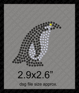 Tiny Penguins DSG File ,TTF Rhinestone Fonts & Rhinestone Designs