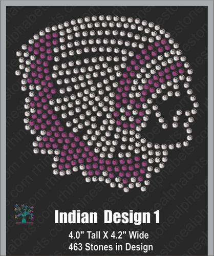 Indian Design 1 ,TTF Rhinestone Fonts & Rhinestone Designs