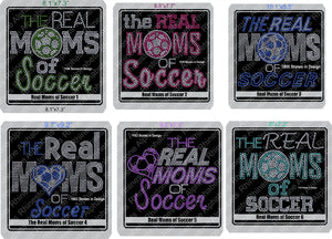 Real Moms of Soccer Combo ,TTF Rhinestone Fonts & Rhinestone Designs