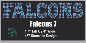 Falcons Word 7 ,TTF Rhinestone Fonts & Rhinestone Designs
