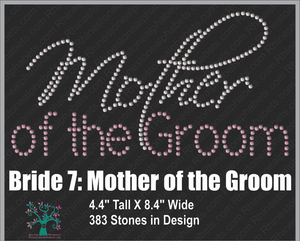 Bride 7 Mother of the Groom ,TTF Rhinestone Fonts & Rhinestone Designs