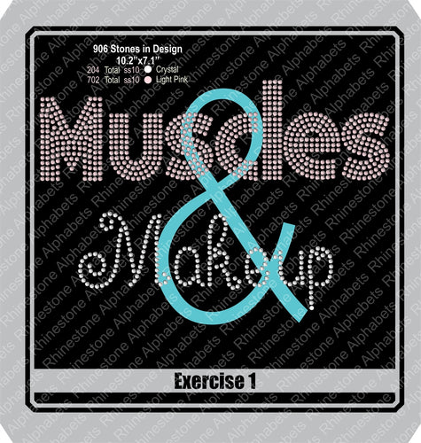 Exercise 1  Muscle and Makeup ,TTF Rhinestone Fonts & Rhinestone Designs