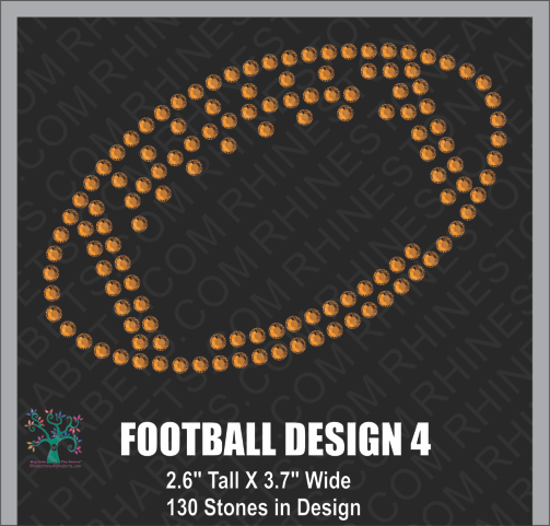 Football Design 4 ,TTF Rhinestone Fonts & Rhinestone Designs