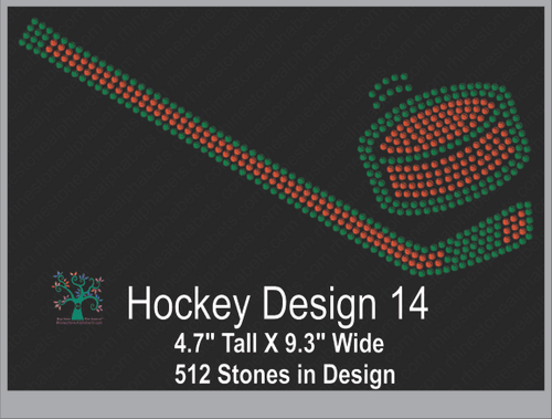 Hockey Design 14 ,TTF Rhinestone Fonts & Rhinestone Designs